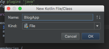 Ktor IntelliJ: Create Kotlin File Name
